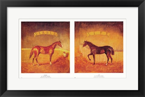 Framed Stable Life (Set of Two) Print