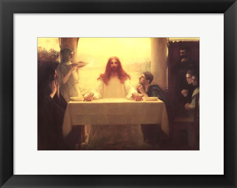 Framed Christ and the Disciples at Emmaus Print