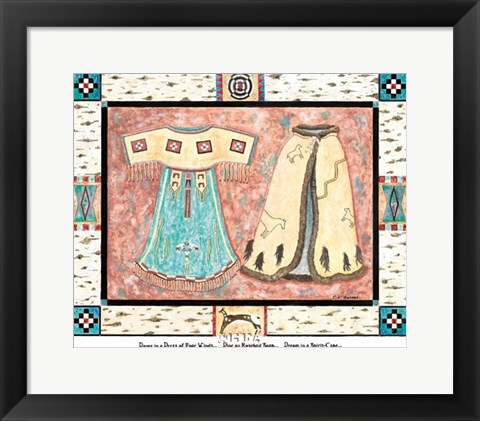 Framed Dance in a Dress of the Four Winds Print