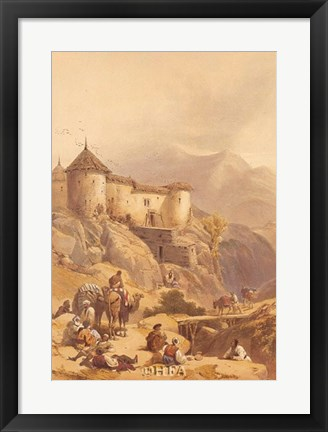 Framed Hill Fort of Ghulab Sinj Print