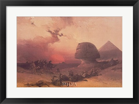 Framed Approach of the Simoon, Desert of Gizeh Print