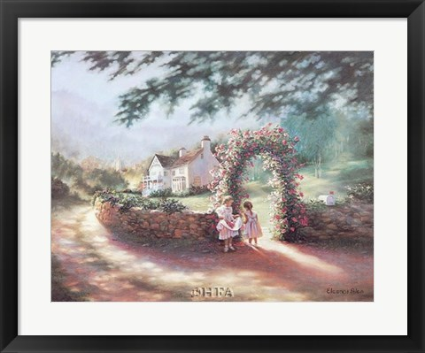 Framed Rose Arbor Print