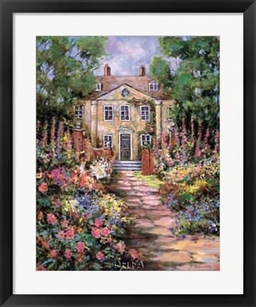 Framed Country Manor Print