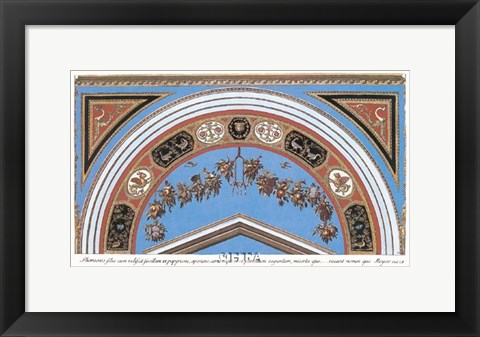 Framed Detail/Loggia in the Vatican I Print