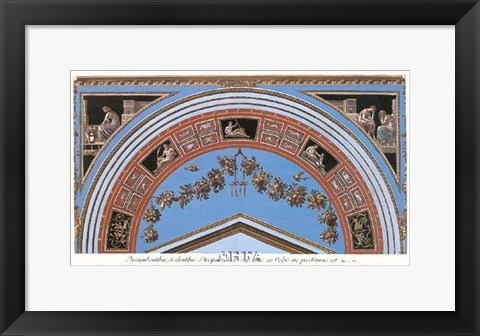 Framed Detail/Loggia in the Vatican IV Print