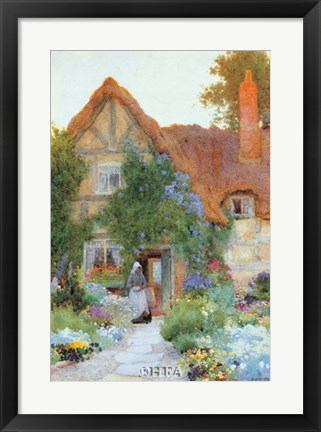 Framed Outside the Cottage Print