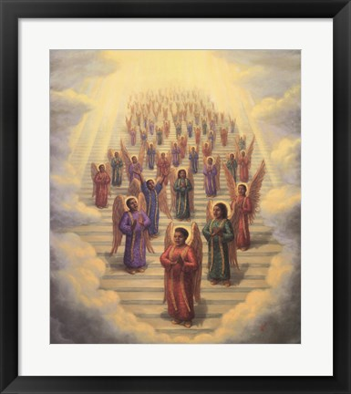 Framed Gospel Choir of Angels Print