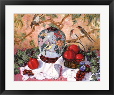 Framed Grapes and Pomegranates Print