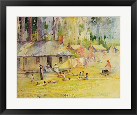 Framed Plantation Settlement Print
