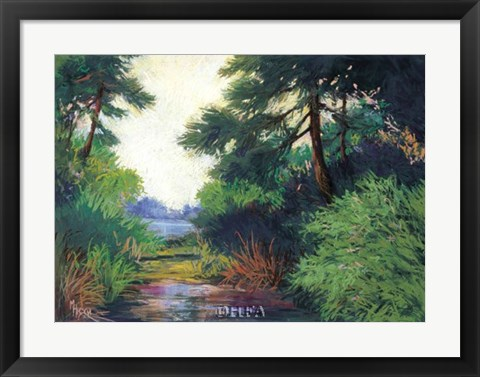 Framed Inlet Pines Print