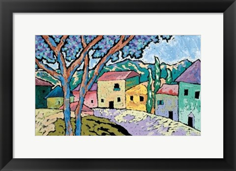 Framed Village Morning Print