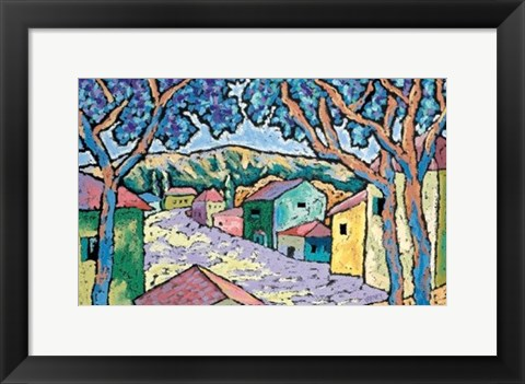 Framed Village Vista Print