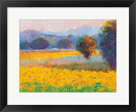 Framed Sunflowers in Provence Print