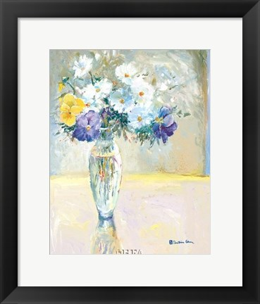 Framed Daisies and Pansies, a Loose Bond Print