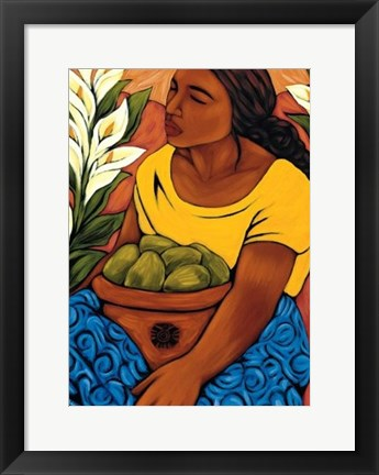 Framed Bountiful Garden Print
