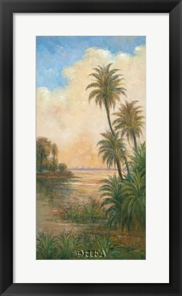 Framed Tropical Serenity I Print