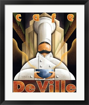 Framed Cafe de Ville Print