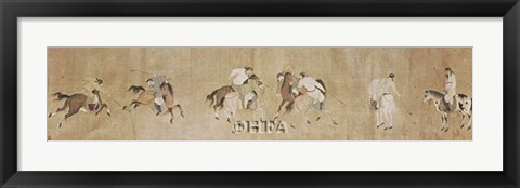 Framed Polo Players Print