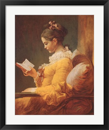 Framed Young Girl Reading Print