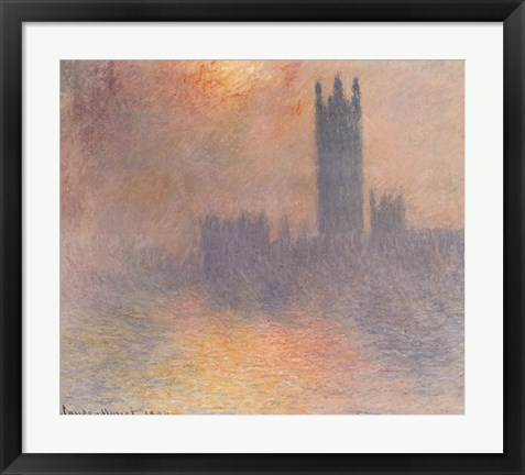 Framed London Houses of Parliament Print