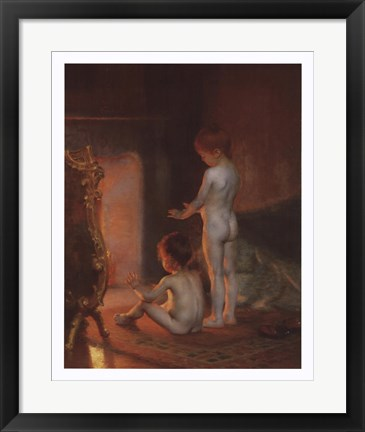 Framed After the Bath, 1890 Print