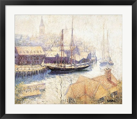 Framed Gloucester Harbor, 1913 Print