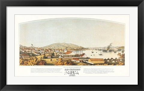 Framed San Francisco, 1849 Print