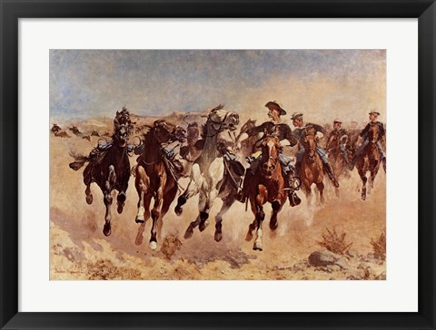 Framed Dismounted: The Fourth Troopers Print