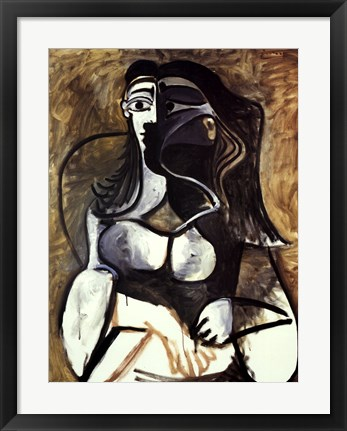 Framed Woman in an Armchair Print