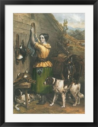 Framed Gamekeeper's Daughter Print