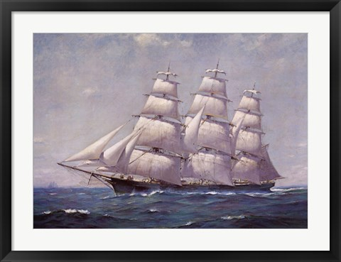 Framed McKay Racer, Sovereign of the Seas Print