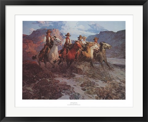 Framed Riders of the Dawn Print
