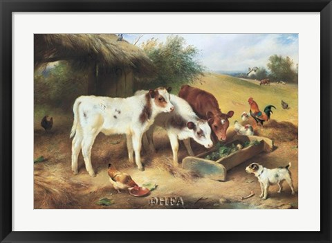 Framed Farmyard Friends, 1920 Print