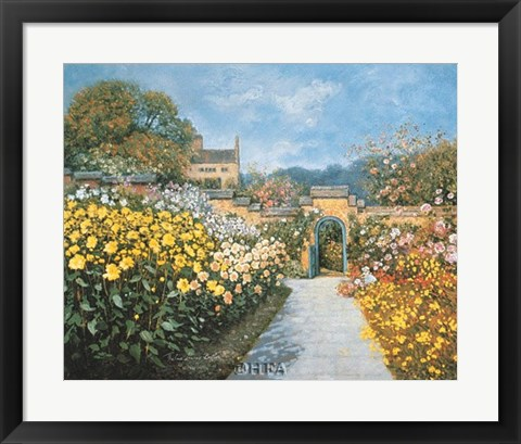 Framed Blue Gate Print