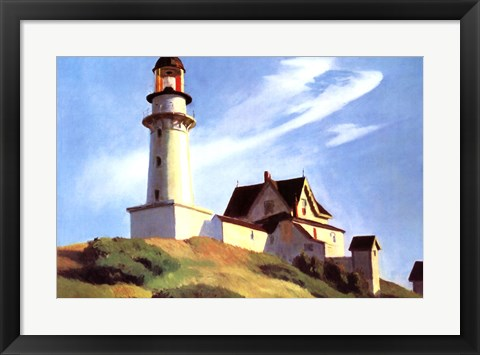 Framed Lighthouse at Two Lights Print