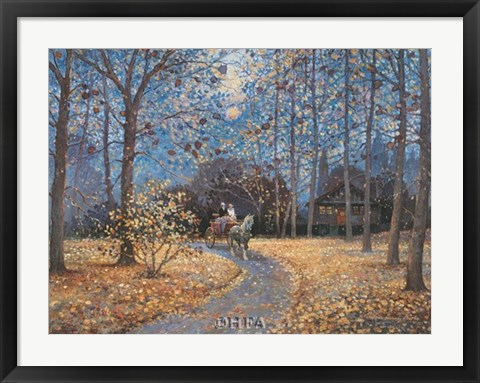 Framed Ride in Autumn Print