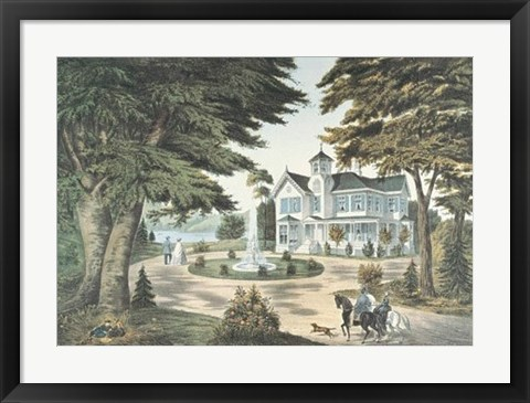 Framed Summer Scene in the Country Print