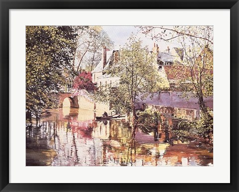 Framed Along the Indre Print