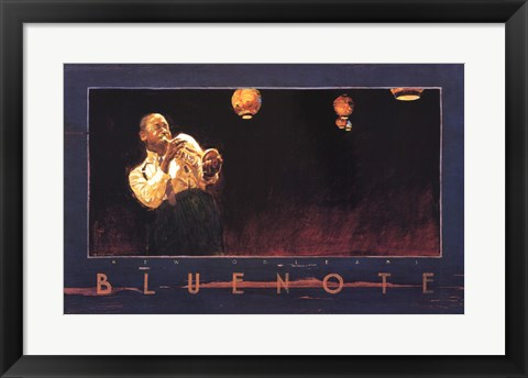 Framed Bluenote, New Orleans Print