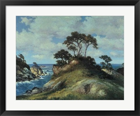 Framed Coast of Monterey Print