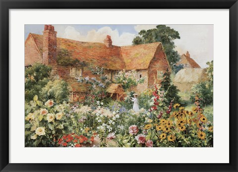 Framed Cottage in Summer Print