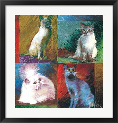 Framed Cats, Montage Print