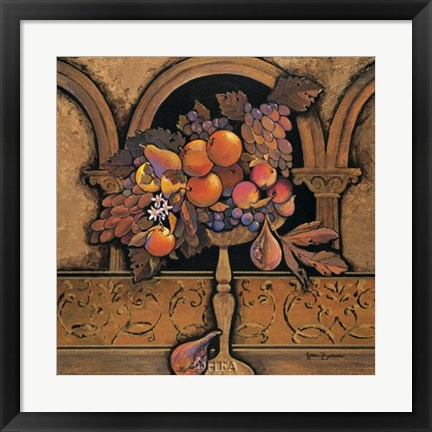 Framed Memories of Provence/Grapes & Persimmons Print