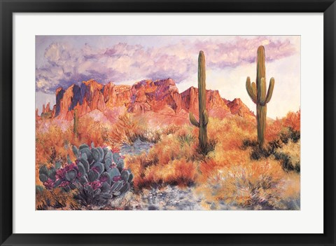 Framed Superstition Sunset in March Print