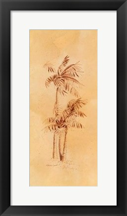 Framed Global Palms II Print
