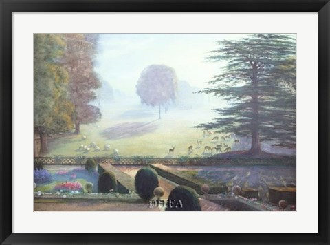 Framed Garden at Escrick Hall Print