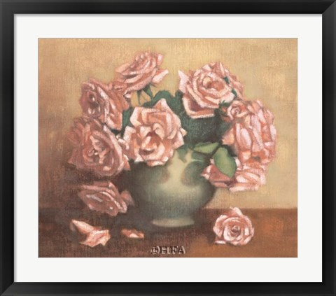 Framed French Cottage Roses II Print