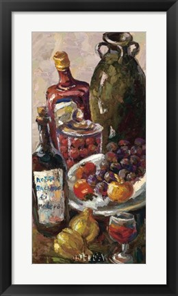 Framed Pears and Wine Print