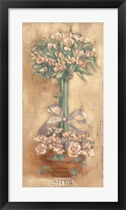 Framed Pink Ophelia Topiary Print