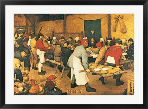 Framed Village Wedding Feast Print